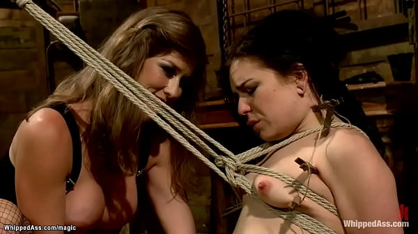 Lesbians slave spanked and ass fucked
