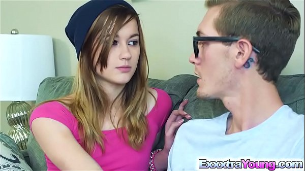 Flirty teen Alaina Dawson fucks a giant cock
