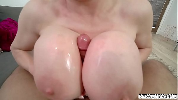 Bustylicious mom Dee Williams gave her stepson a hot POV titty fuck and slides it between her huge hard dick.
