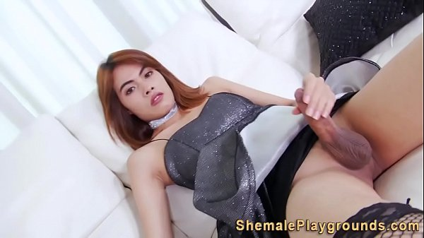 Shemale Jerking Video