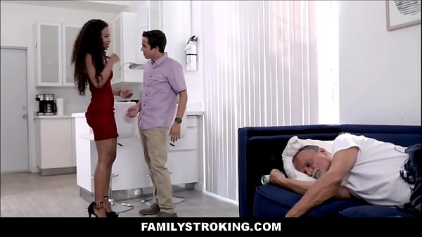 Hot Black Teen Step Sister Demi Sutra And Her White Younger Step Brother Fuck In Front Of Sleeping Dad After They Coming Home Late