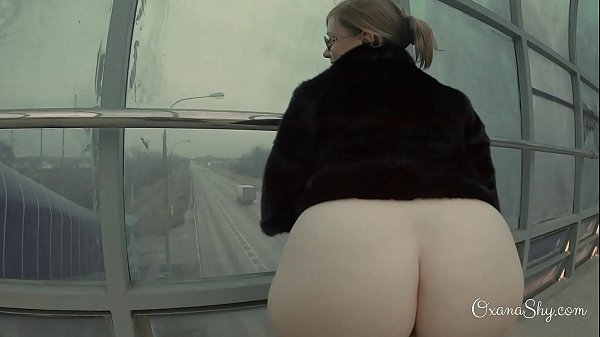Slut in an overpass. Winter and summer. Butt plug and blowjob