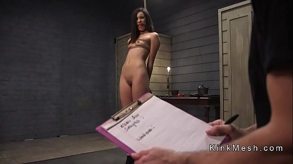 Slave made for deep throat and anal sex