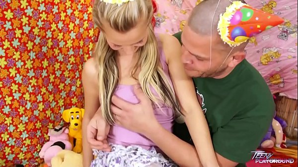 Teenyplayground Bella b. celebrate her 18th birthday with older man in bed