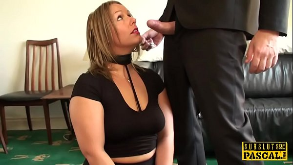 Curvy Britt roughly fucked drenched in spit Thumb