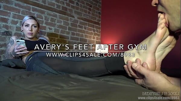 Avery's Feet After Gym - Dreamgirls in Socks