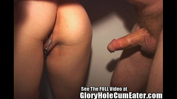 Hot Brunette Fucked in a Glory Hole!