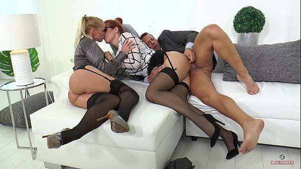 Kathia Nobili and his husband teaching her secretary (4K) (Teaser)