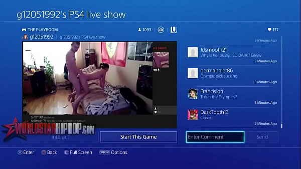 They Wildin' On That PS4- Playstation Livestream Turns Into An Adult Film