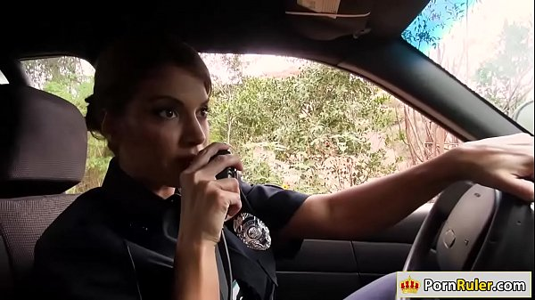 Busty police officer fucking a stranger
