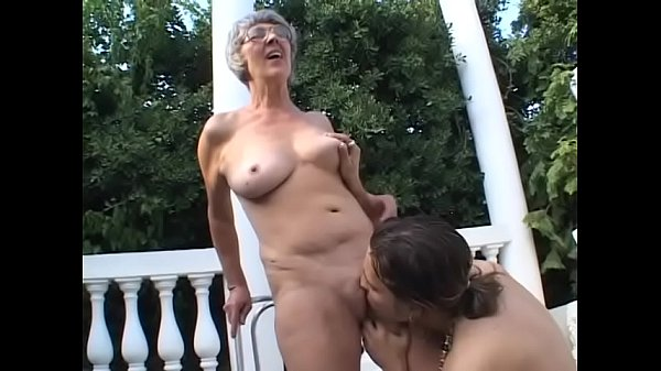Horny granny Margo gives blowjob to her husband and then gets a nice fuck from a young dude
