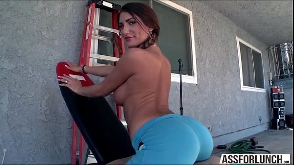 Cute August with fat booty gets banged hard by ...