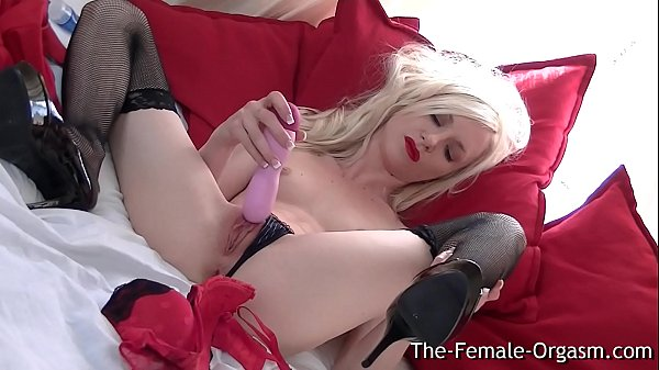 Petite Blonde Bating to Multiple Orgasms and Squirt
