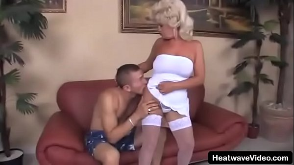Grandson is about to go play football but wants to fuck his grandma aggressively first