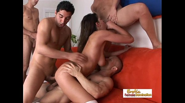 Anal gangbang ends with a couple of super sexy ...
