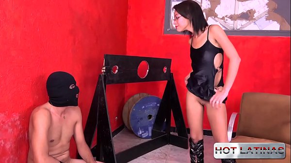 The two slaves fucked the domme - Polly Petrov...