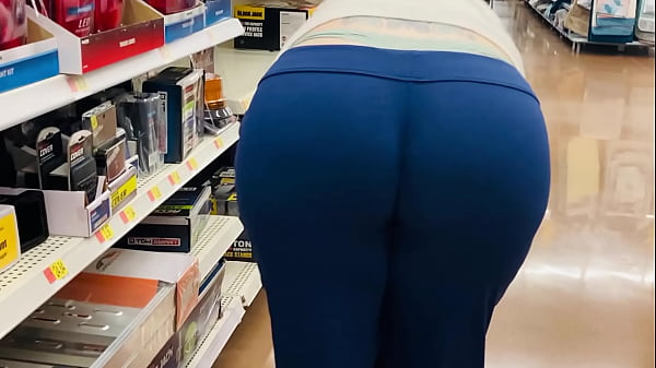 Mom Fat Booty Wedgie at Store Thumb