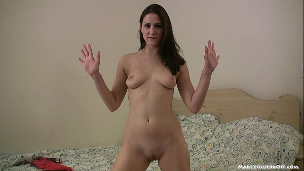 Naked girl encourages you to jerk off