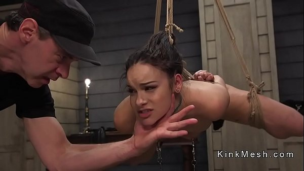 Hot ass slave anal banged in dungeon