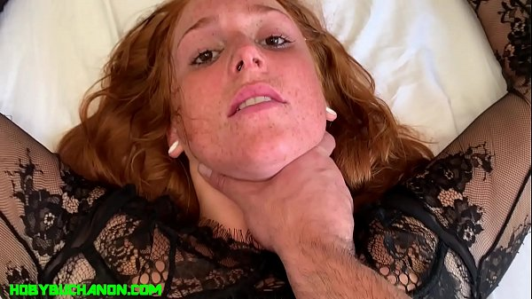 New Teen Redhead Jayme Gets it Rough in her Pussy and Throat Thumb