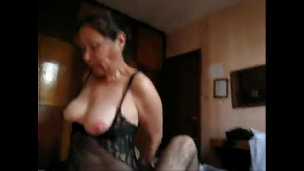 Home video of grandmother in lingerie fucking her grandson