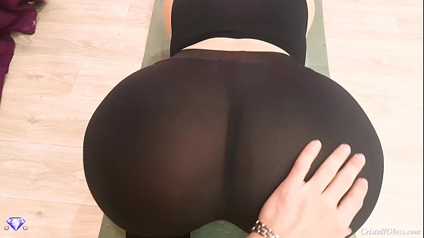 Big Booty with Leggings, POV Blowjob and Sex - Cristall Gloss