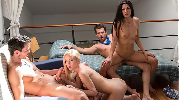 VIP SEX VAULT - Intense foursome with hotties A...