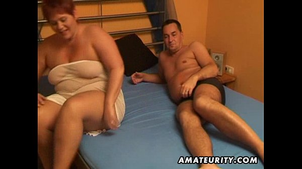 Chubby amateur wife sucks and fucks with cum in mouth