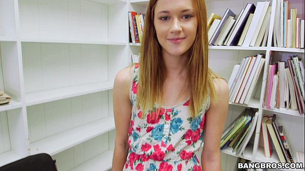 Tiny Redhead Sucks your Dick in the Library POV Thumb