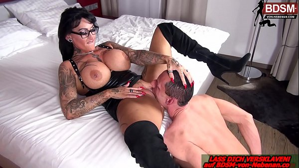 german domina with big tits get lick pussy from slave