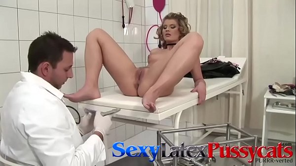 Babe examined by doctor