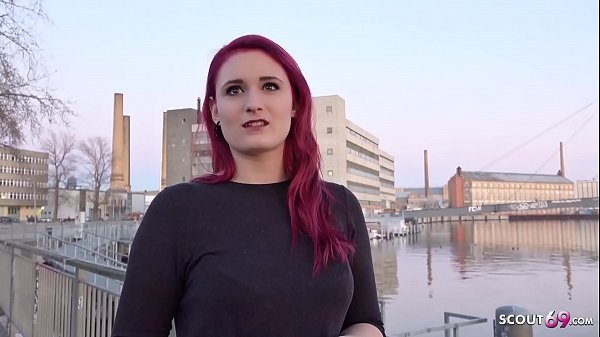 GERMAN SCOUT - Redhead College Teen Melina talk to Fuck at Street Casting Thumb