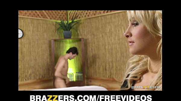 Blonde masseuse Jessica Nyx gives client a sensual suck and fuck