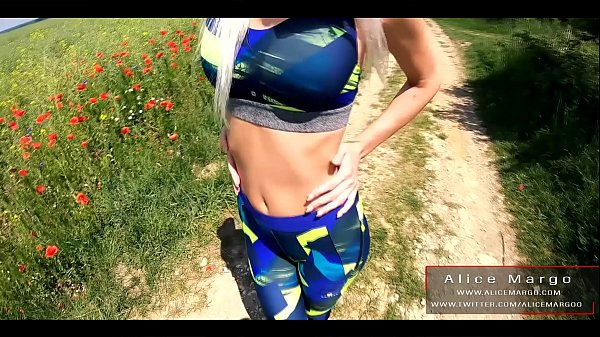 Public Fucking With Sexy Blonde in Yoga Panties! AliceMargo.com