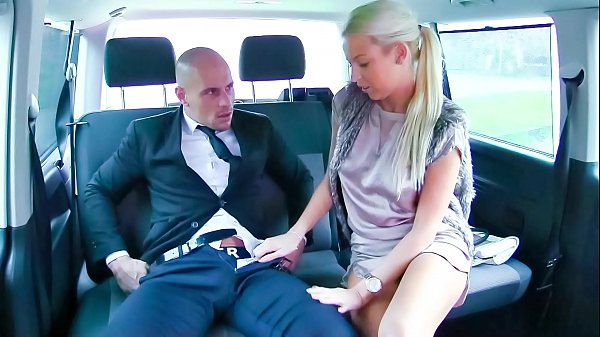 VIP SEX VAULT - Sultry Czech blondie gets fucked and cum covered in hot car sex Thumb