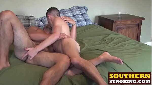 Skinny twink Twink destroys hunks ass with his big cock