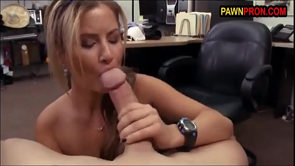 Gorgeous Blonde Let Pawnbroker Suck Her Plump Titties