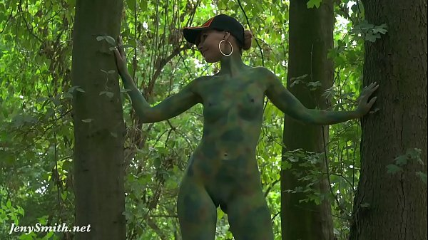 Invisible nakedness in the city. Body Art with public nude by Jeny Smith