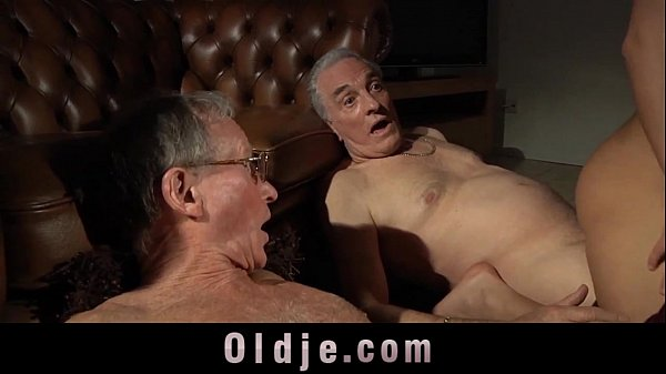 Young babes fucking surprise for old men in the...