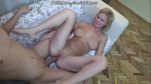 Hot blonde chick suffering from anal penetration