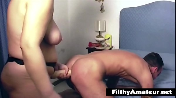 The mistress wife buggers her husband with a strapon Thumb