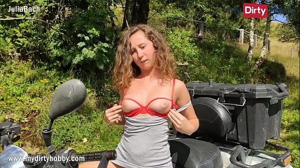 MyDirtyHobby - Outdoor stranger fuck with petite amateur
