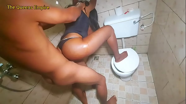 Bathroom fuck between mature mom and step son