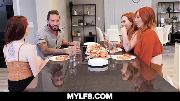 Busty Redhead Invites Boyfriend To Meet Her Moms They Have A Foursome