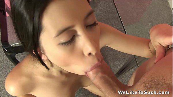 Christy likes to suck cock in the kitchen