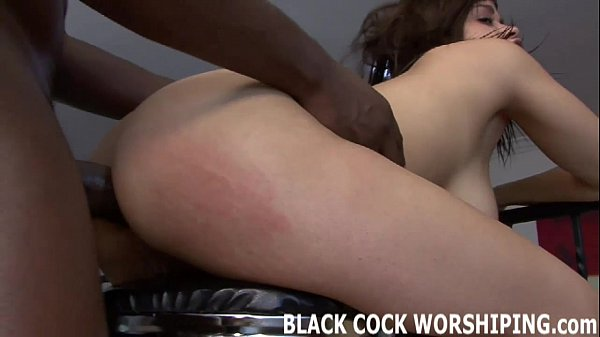 I can barely even fit his big black cock in my tight white pussy