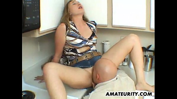 Amateur wife sucks and fucks in her kitchen