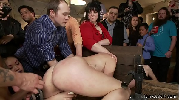 Sub with neck in stock dp public fucked
