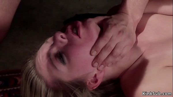 Blonde slave trainee gets anal fuck