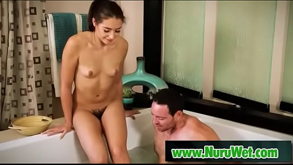 Sexy brunette getting nuru massage - Romeo Price, Avi Love